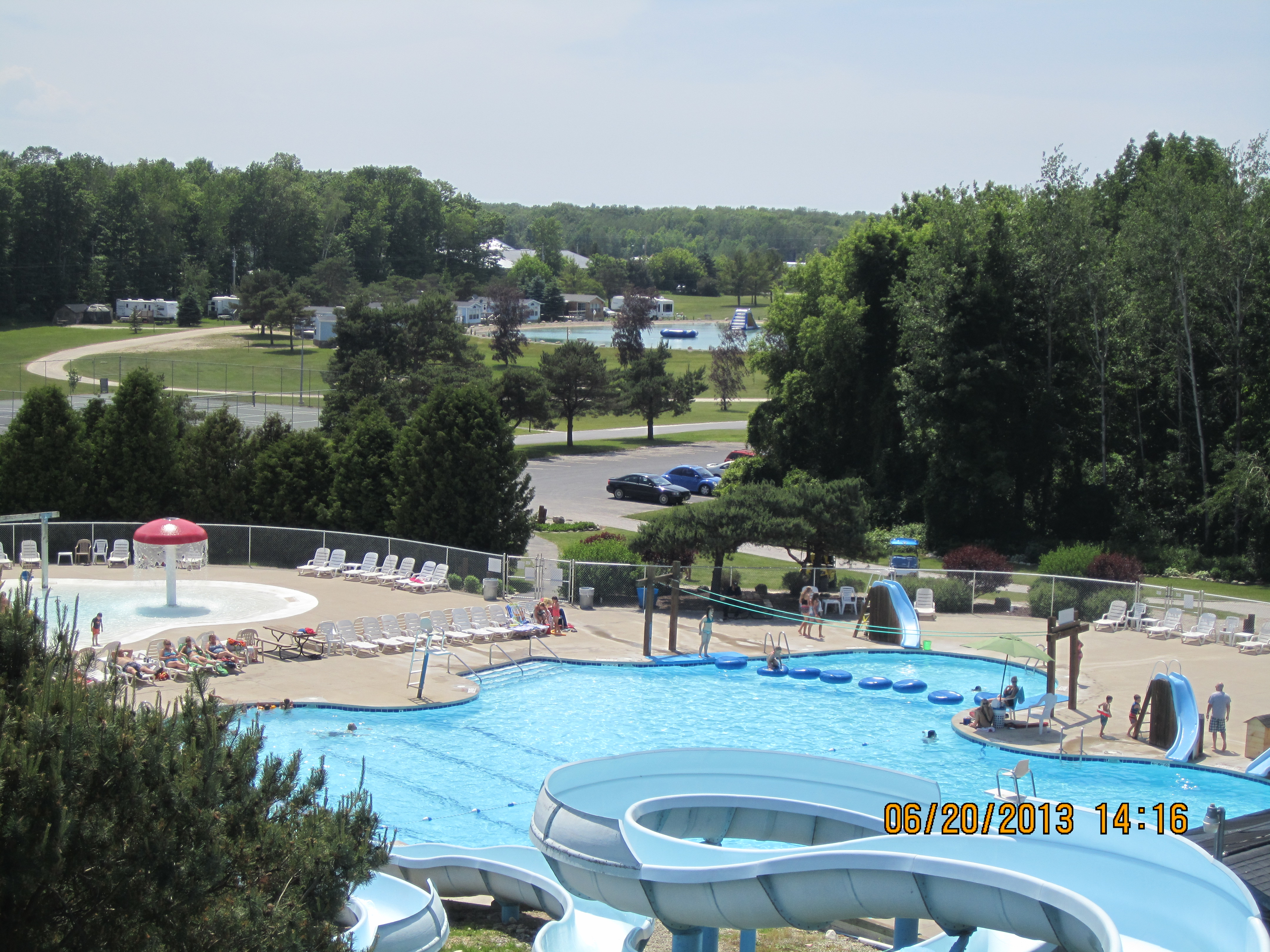 Aerial of Activity Pool