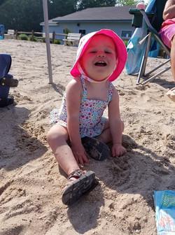 Child enjoying the beach 2019