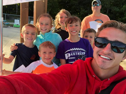 Kids posed with Lifeguard Matt 2019