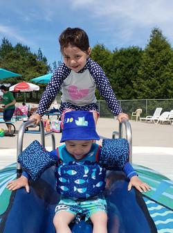 Kids on turtle slide 2019