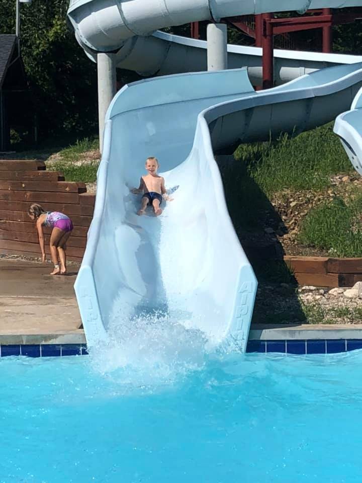 Coming down the water slide 2019