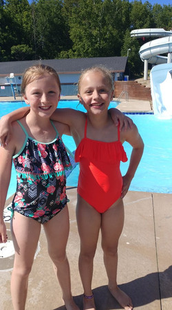 Kids posed by the pool 2019