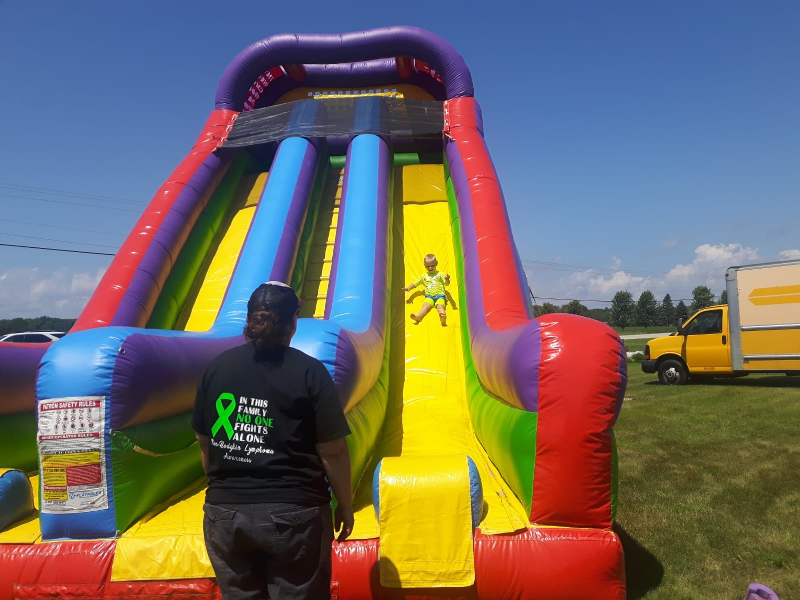 Bounce slide for Carlsville Day 2019
