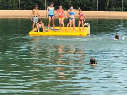 Enjoying the raft in the Oasis 2019