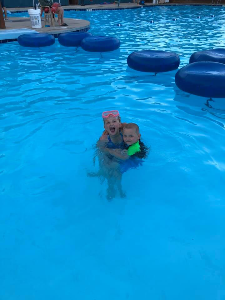 Kids enjoying the pool 2019