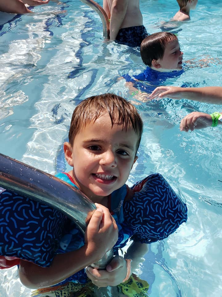 Kid enjoying the pool 2019