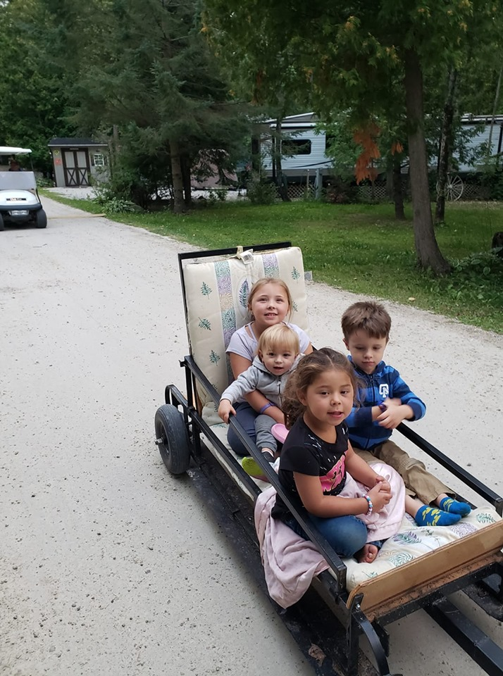 Kids enjoying the campground 2019