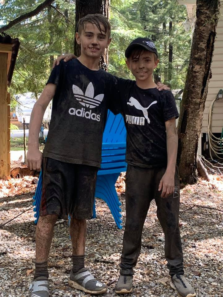 Kids enjoying their site 2019