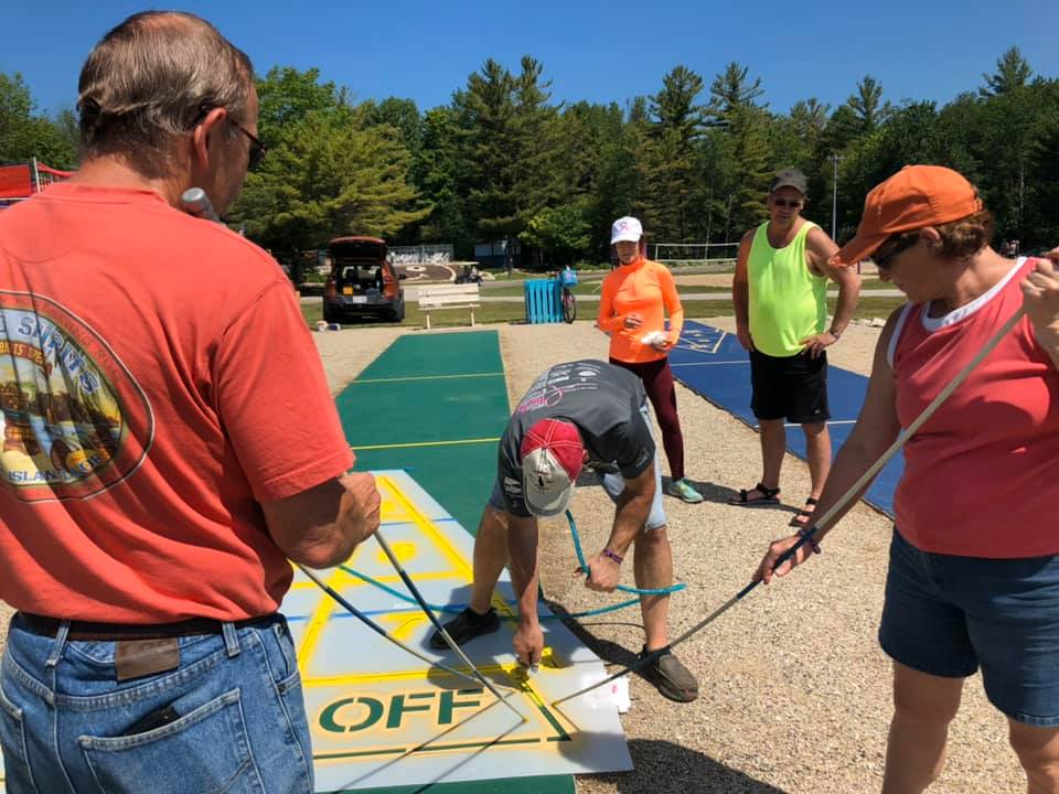 Repainting of the Shuffleboards 2019