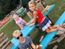 Kids playing giant Jenga 2019