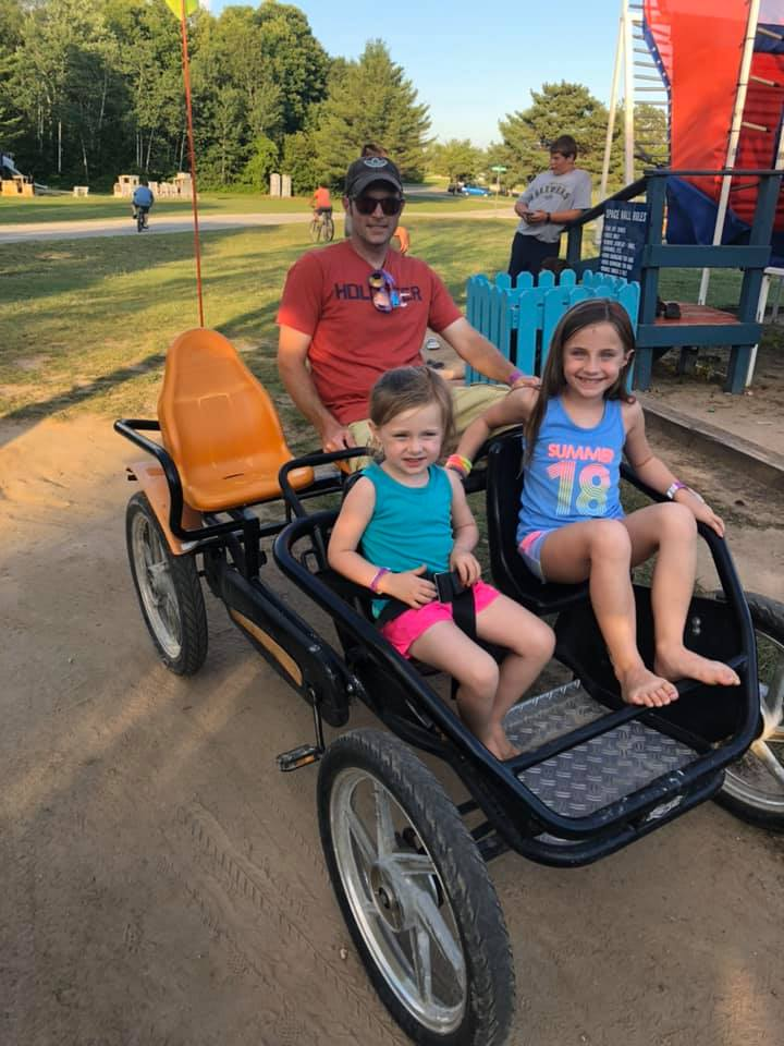 Kids enjoying the pedal carts 2019