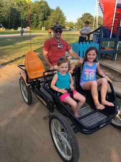 Kids enjoying the pedal carts 2019