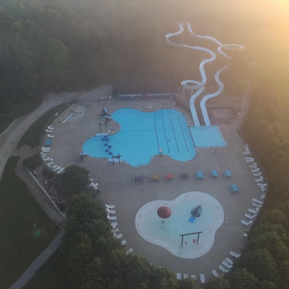 Aerial of Water Park 2019