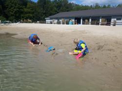 Kids enjoying the beach 2019