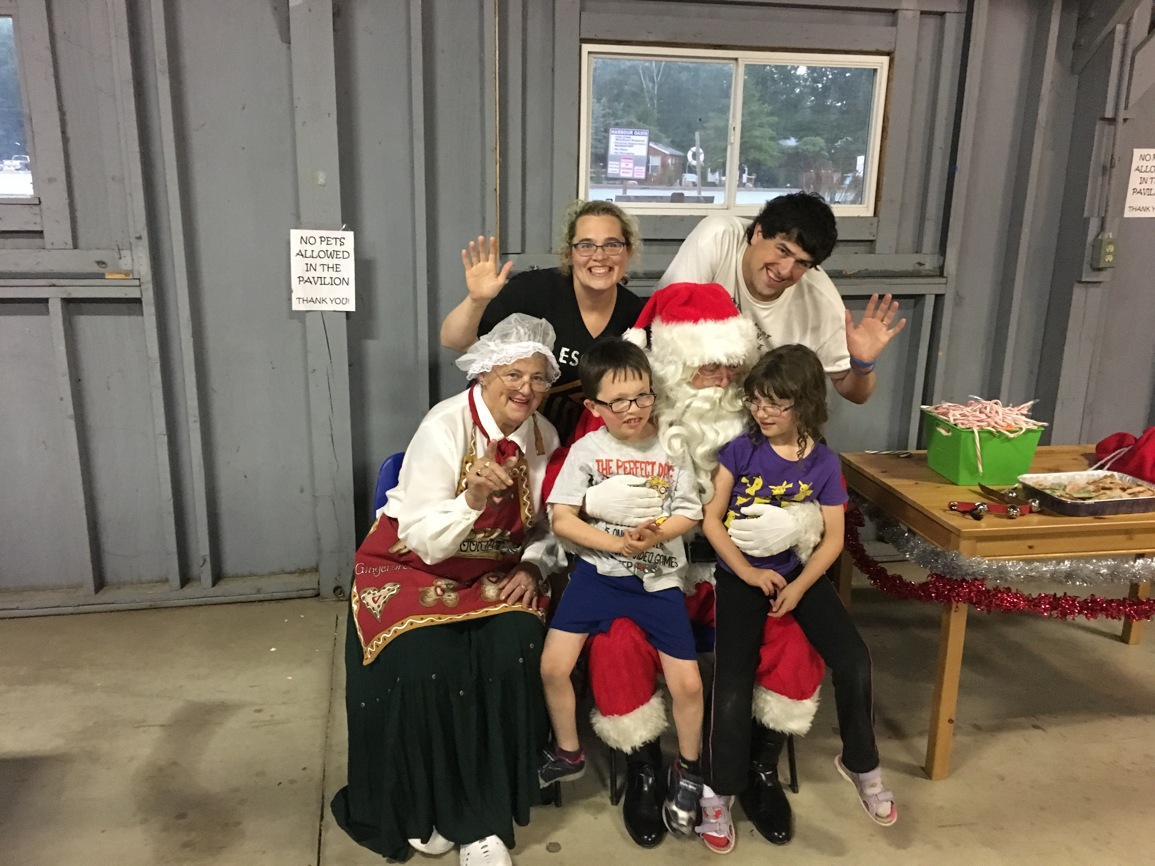 Family photo with Santa