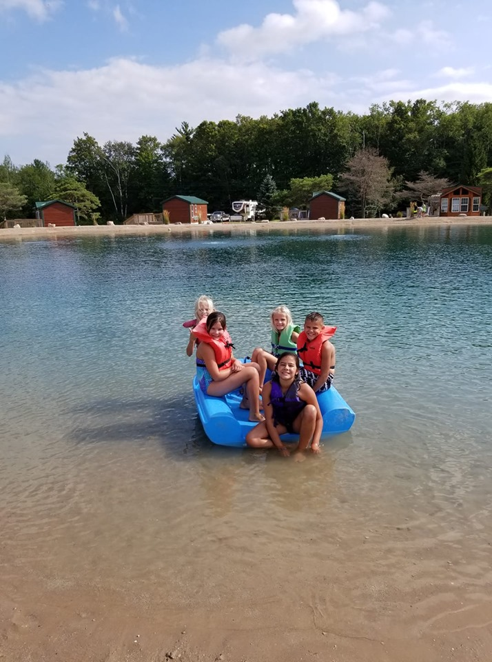 Kids on a boat in the Oasis 2019