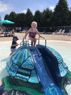 Enjoying the turtle slide 2019