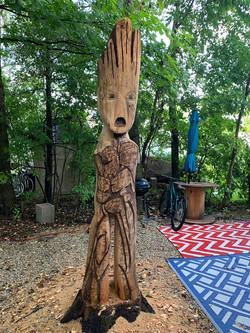 A camper carved Groot 2019