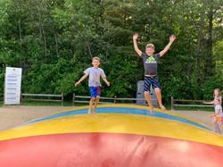 Kids enjoying the jump pillow 2019