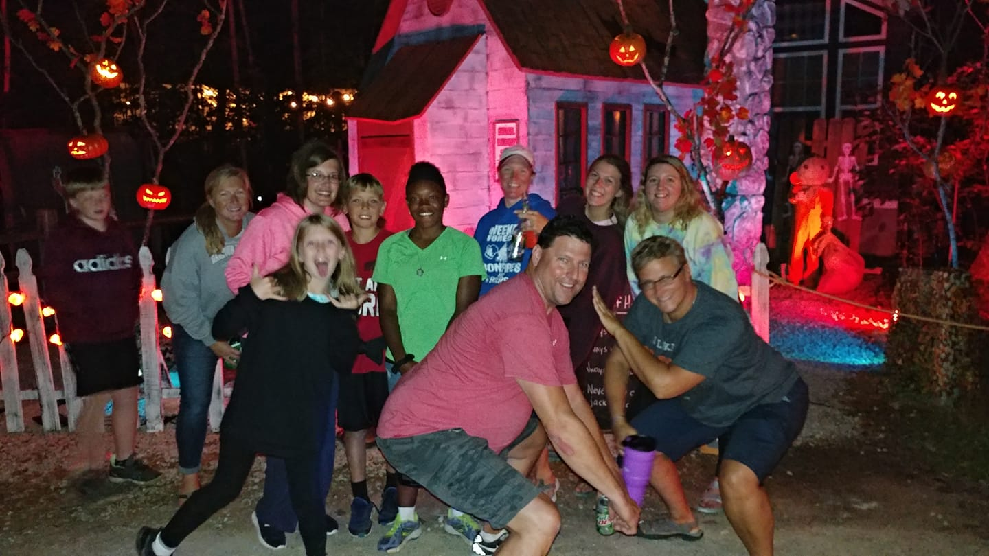 Group posed for Halloween 2019