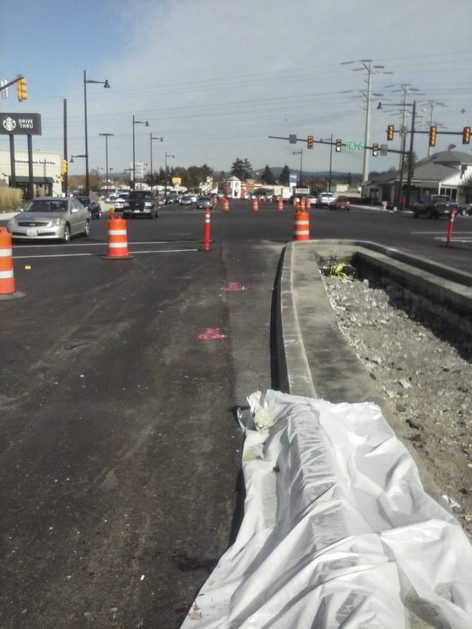 Roadway renovations.