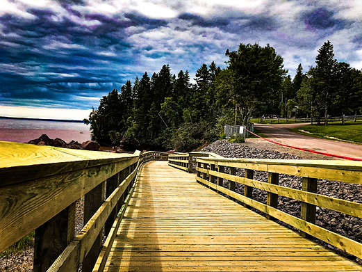 Accessible ramp at Hopewell Rock in Hopewell, NB.