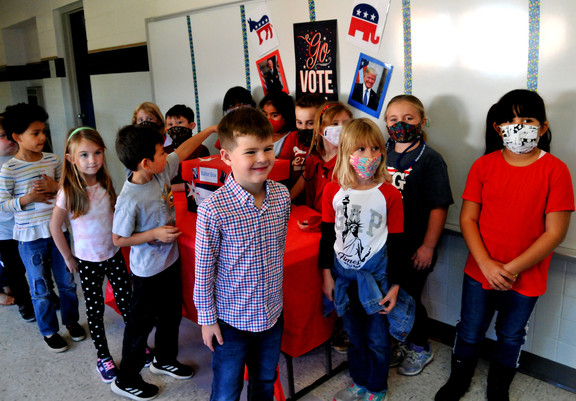 "DISD students model civility in ""mock"" elections"