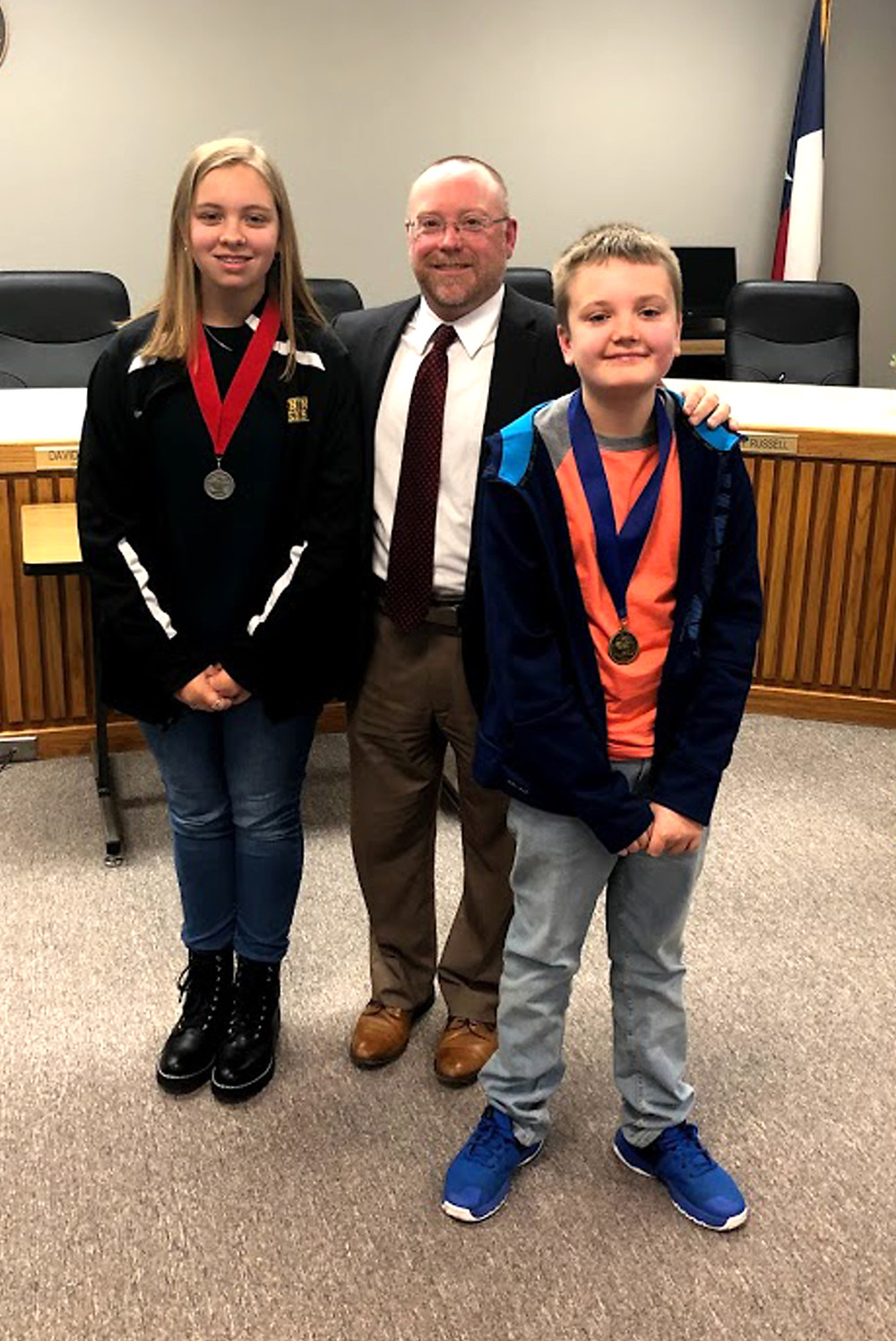 Scott Middle School spelling bee winners
