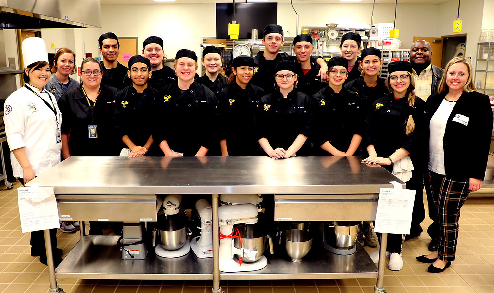 Denison High School cooking teams competed to advanced to the state event at SMU