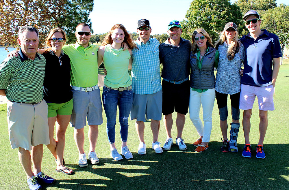 Looney family at the golf tournament