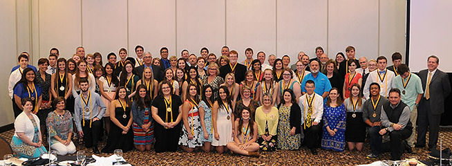 Group picture of scholars banquet