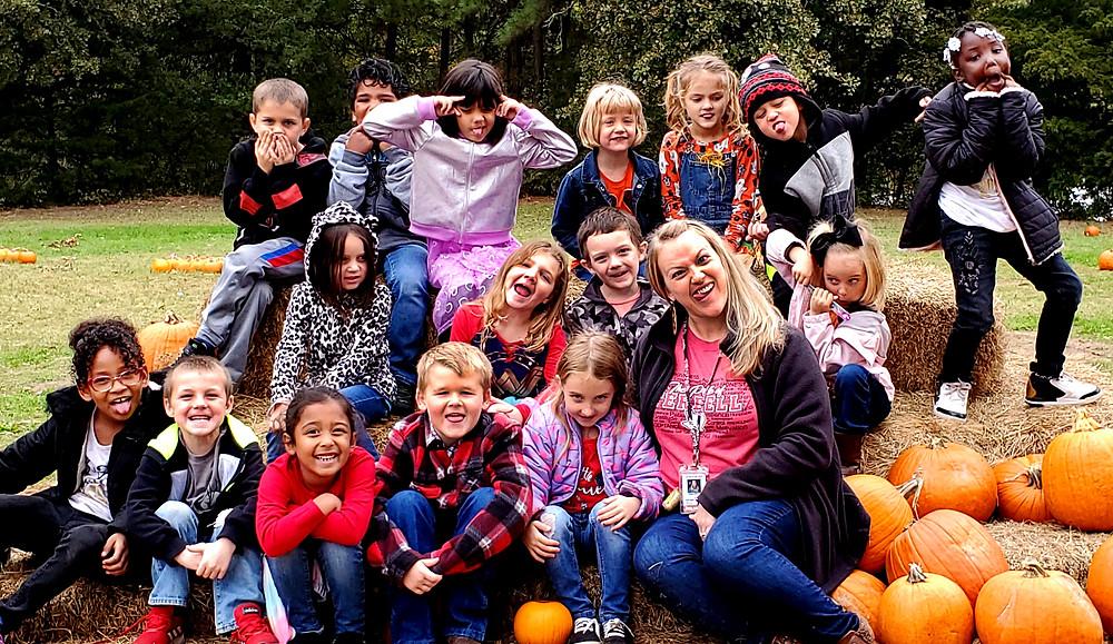 Terrell Texans visit the pumpkin patch