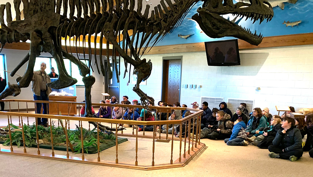 B. McDaniel fifth graders studied paleontology and Native American history in Camp Goddard's state-of-the-art museum