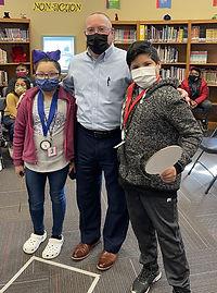 Spelling bee winners with Dr. Kirkbride