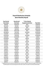 2020 - 2021 Payroll Distribution Schedul