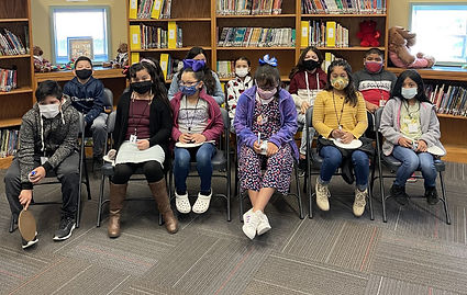 Mayes Elementary spelling bee competitors