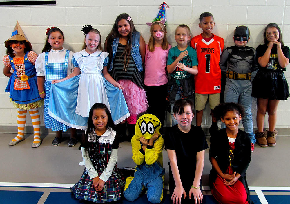 Houston Elementary students dress as their favorite book character