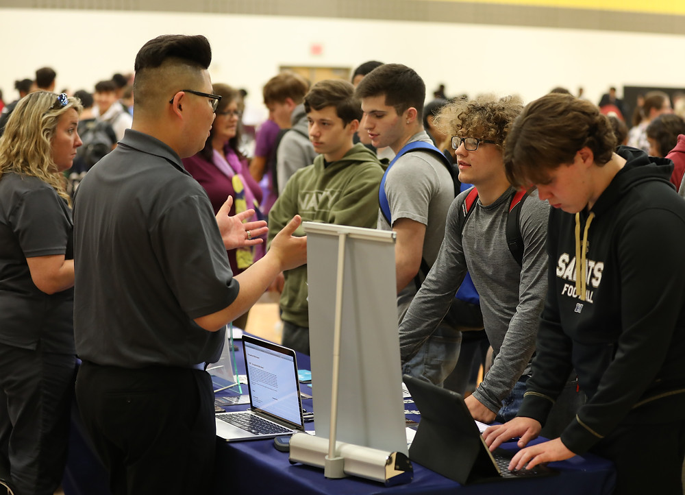 Denison High School students attend the annual college fair
