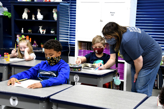 Denison ISD teachers, students embrace 'new normal'