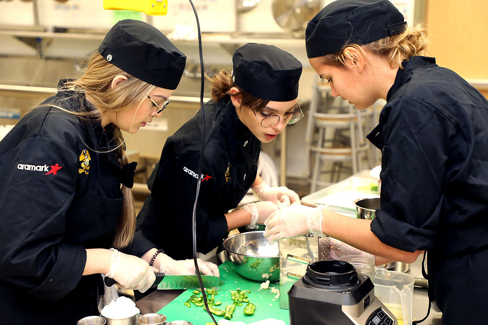Fourteen Denison High School chef teams competed for the right to move on to the state competition