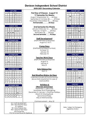 2020-2021   Revised Secondary Calendar 3