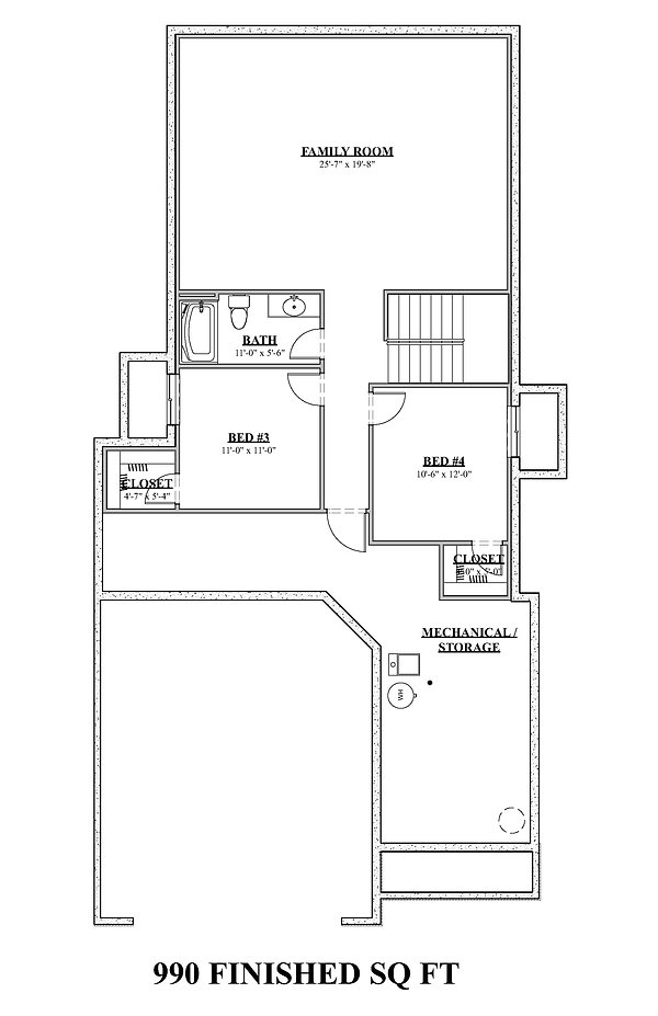 Viking Homes - 1490 Ranch - Basement Bro