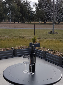 Private patio and view (winter)