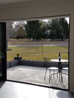 View from private patio (winter)