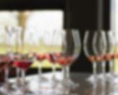 wine glasses drinking cellar door
