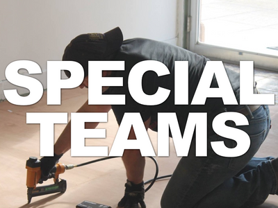 "There are several ""Special Teams""comprised of people using their skills and specialized training to build the Kingdom, here at Bethel!"