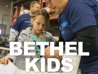 Our trained Bethel Kids team work to help kids get to know Jesus at their level! We create environments for babies through 5th grade every Sunday!