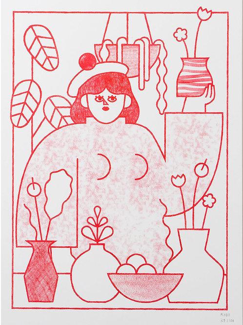 Jose A. Roda. Plants and pots