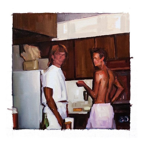 Pascual Rodríguez. Boys in the kitchen