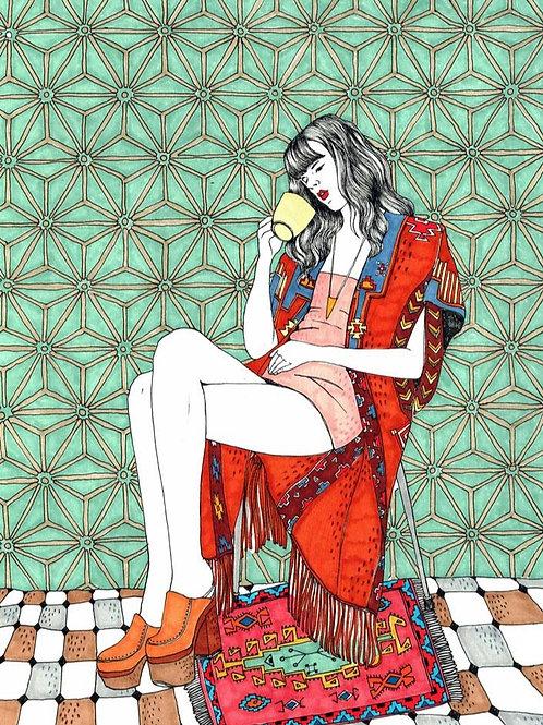 Ana Jarén. Girl drinking 5